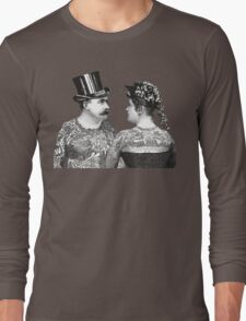 Tattooed Victorian Lovers Long Sleeve T-Shirt
