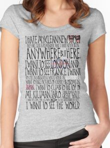 I Hate My Clean New Shoes 2.0 Women's Fitted Scoop T-Shirt