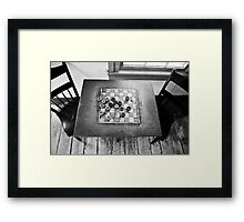 Checkers Table Framed Print