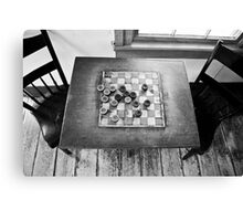 Checkers Table Canvas Print