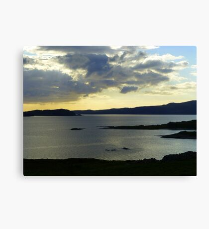 Late Evening On The Donegal Atlantic Drive Canvas Print