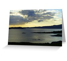 Late Evening On The Donegal Atlantic Drive Greeting Card