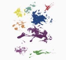 Paint splatter One Piece - Short Sleeve