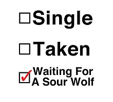 Waiting for a Sour Wolf Photographic Print