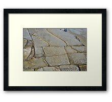 Rock Tessellation Framed Print
