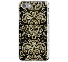 Black Gold & Diamonds Pattern Look Vintage Damasks iPhone Case/Skin