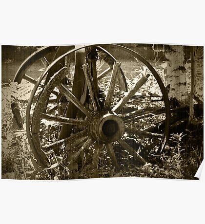 Vintage Wagon Wheels Poster