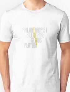 Genius Billionaire Playboy Philanthropist [Light/Yellow] T-Shirt