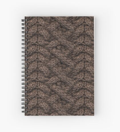 Brown Haka Cable Knit Spiral Notebook