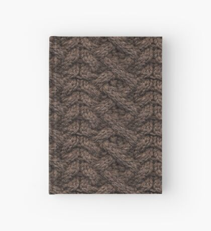 Brown Haka Cable Knit Hardcover Journal