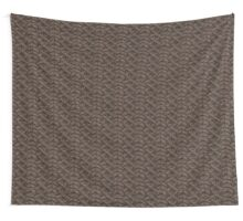 Brown Haka Cable Knit Wall Tapestry