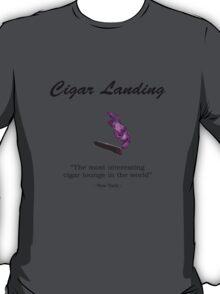 Cigar Landing T-Shirt, New York City Cigar Lounge T-Shirt