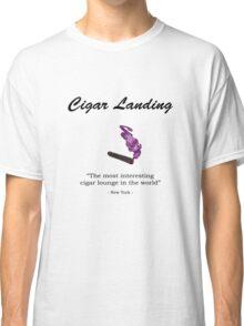 Cigar Landing T-Shirt, New York City Cigar Lounge Classic T-Shirt