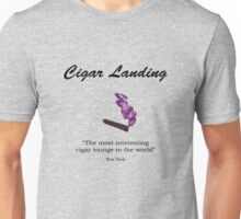 Cigar Landing T-Shirt, New York City Cigar Lounge Unisex T-Shirt