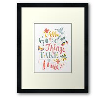 All Good Things Framed Print