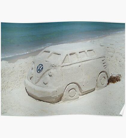 VW beach sculpture Poster