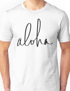 Aloha Hawaii Typography Unisex T-Shirt