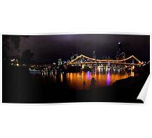 Brisbane City at night  Poster