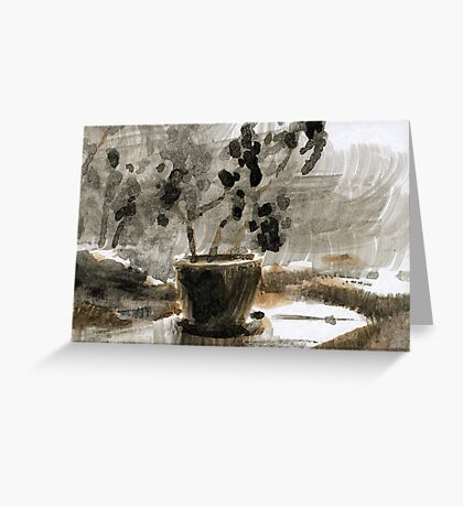 In August Downpour Greeting Card
