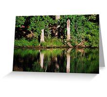 Three Tree Reflections  Greeting Card