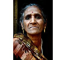 A Woman in Kolkata Photographic Print