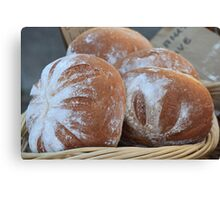 Fresh Baked Bread Canvas Print