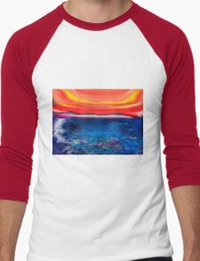Abstract Mallorca Men's Baseball ¾ T-Shirt