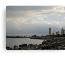 Milwaukee Cityscape 08 19 2012 Canvas Print