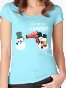 GET OFF MY LAWN!! Women's Fitted Scoop T-Shirt