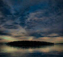 Georgeson Island at Sunset by toby snelgrove  IPA