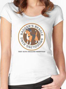 Badger's Beagle Smuggling Ring V2.5 Women's Fitted Scoop T-Shirt