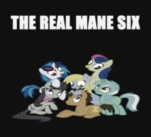 The Real Mane Six Ponies alt tee by Gqualizza