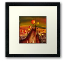 """""""Home under Magical Lanterns"""" from the series """"Freed Landscapes"""" Framed Print"""