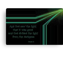 God Divided the Light from the Darkness Canvas Print