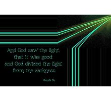 God Divided the Light from the Darkness Photographic Print