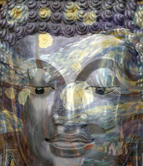 Buddha on a Starry Night  by KelseyGallery