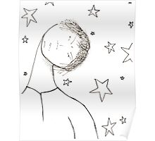Somedays are just grouchy stars...even for a Buddha Poster