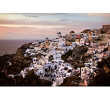 Oia at Sunset Photographic Print