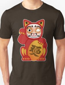 Lucky Daruma Doll Cat T-Shirt