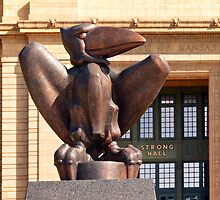 Bronze Jayhawk by Catherine Sherman
