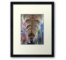 Exeter Cathedral ~ look up! Framed Print