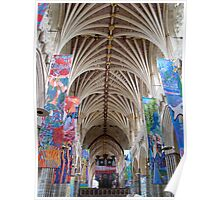 Exeter Cathedral ~ look up! Poster