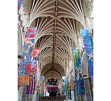 Exeter Cathedral ~ look up! Photographic Print