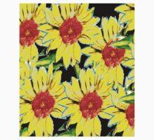 Bright Sunflower One Piece - Short Sleeve