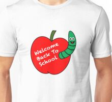 Welcome Back To School, Apple and Worm Unisex T-Shirt