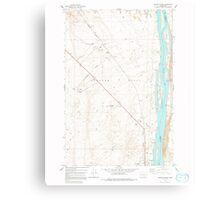 USGS Topo Map Washington State WA Wooden Island 244781 1978 24000 Metal Print