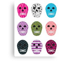 Sugar Pattern Skulls Canvas Print