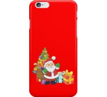 Cute Santa and Christmas Tree iPhone Case/Skin
