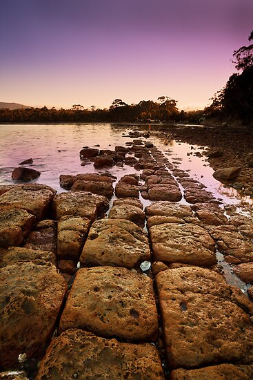 Sunrise at Eggs and Bacon Bay, Tasmania by Chris Cobern