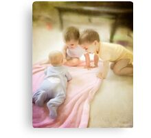 3 Babies Canvas Print